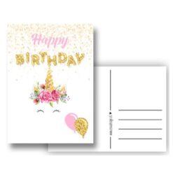 kaart - post versturen - verjaardagskaart - eenhoorn